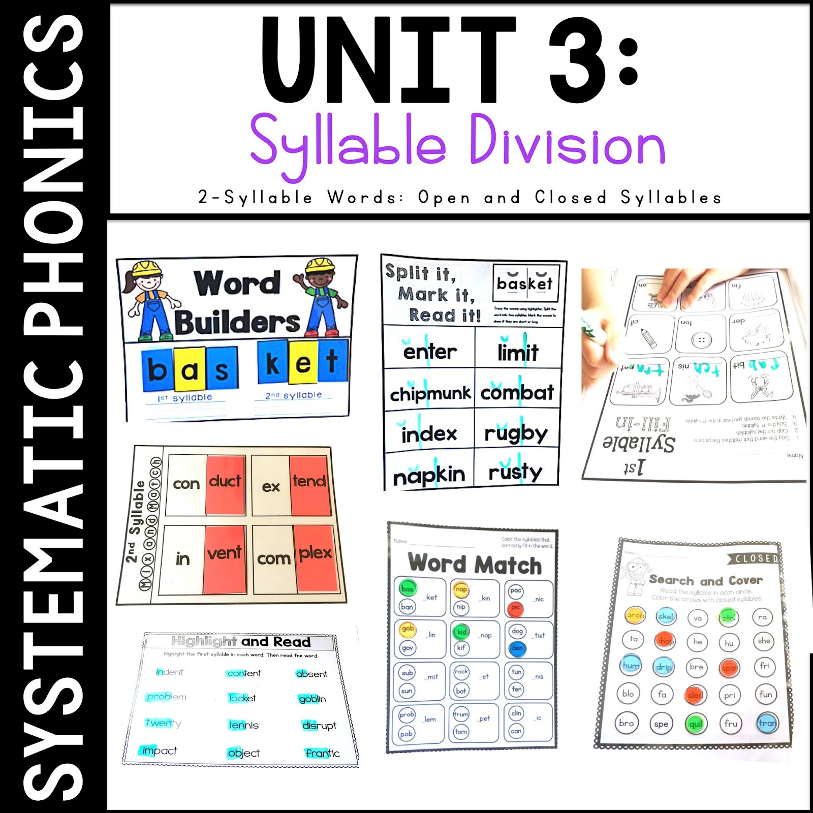 Sarah's First Grade Snippets: Syllable Division Rules [ 1600 x 1600 Pixel ]