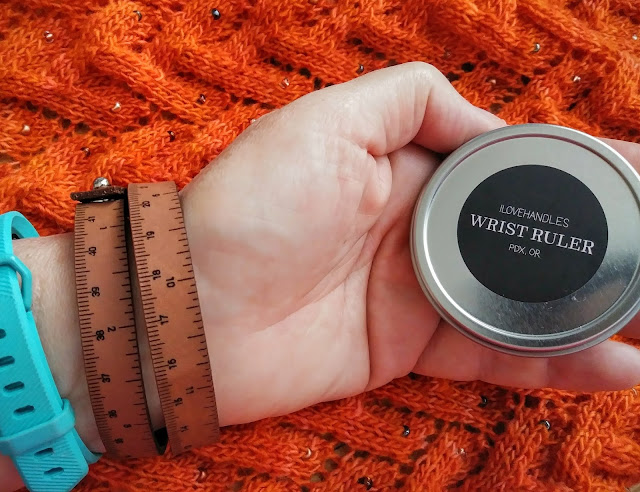The Wrist Ruler from Center of the Yarniverse is the perfect jewelry for knitters.