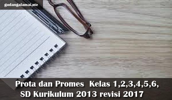 Prota dan Promes  Kelas 1,2,3,4,5,6, SD Kurikulum 2013 revisi 2017