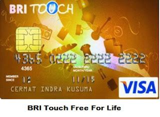 Gambar Kartu Kredit BRI Touch Visa Gold