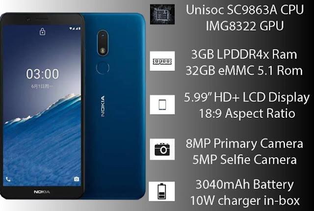 Nokia C3 Spesifikasi