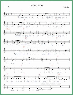 not balok lagu poco poco