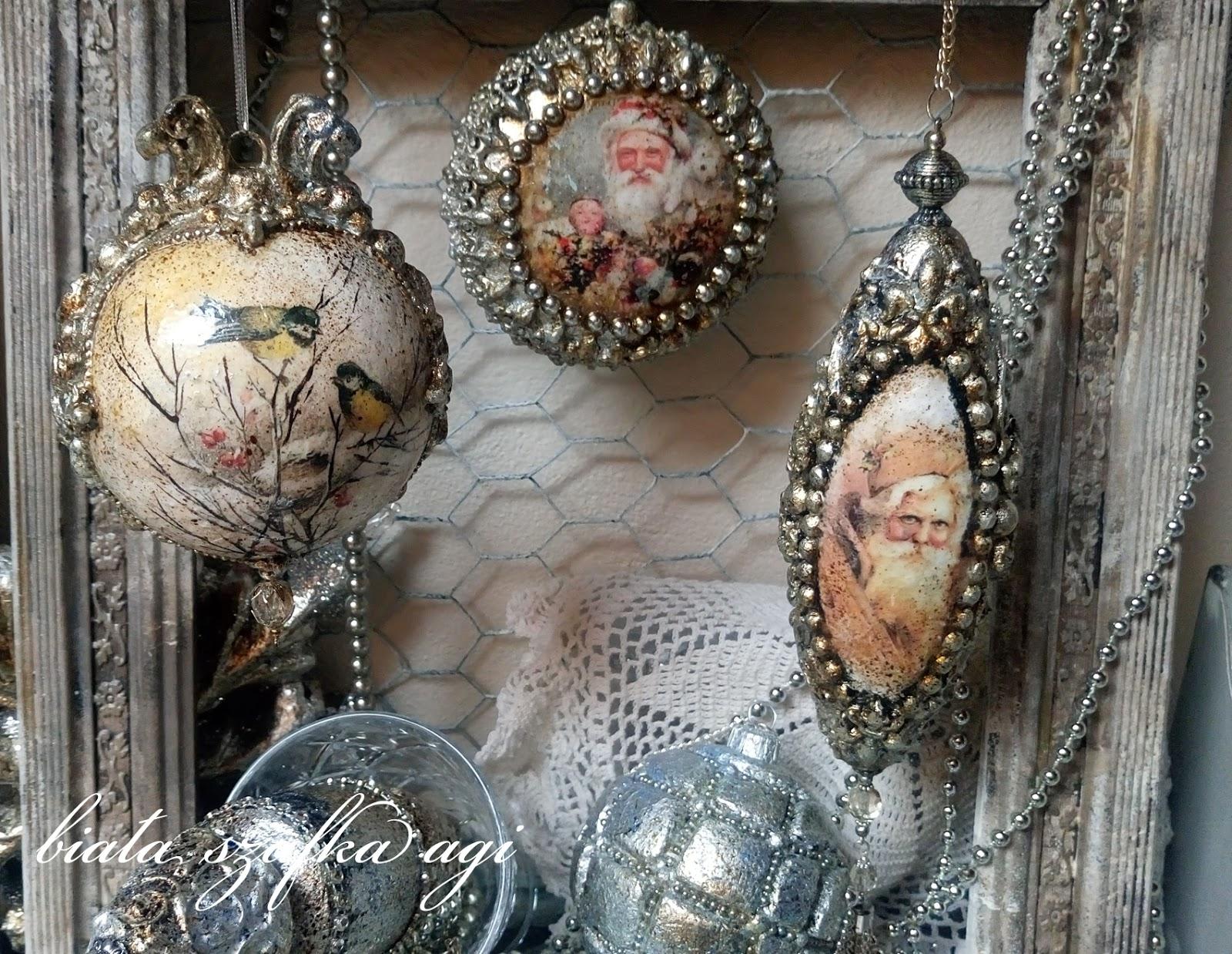Decoupage Christmas Balls