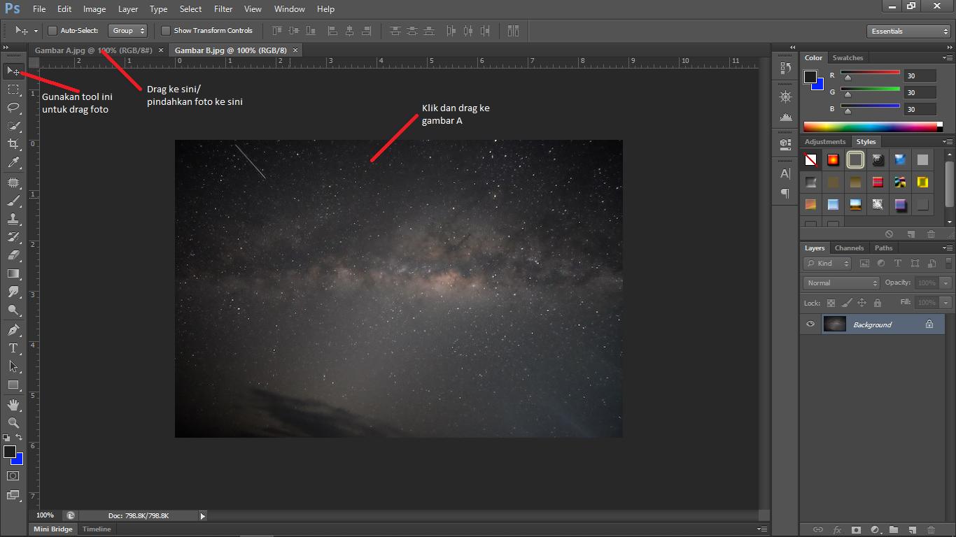 menggabungkan gambar bitmap dengan