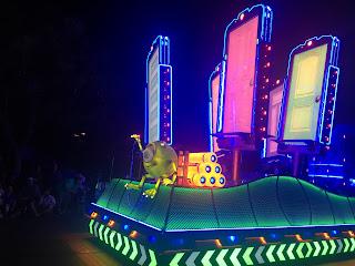Mike Monsters Inc Float Paint the Night Disney California Adventure