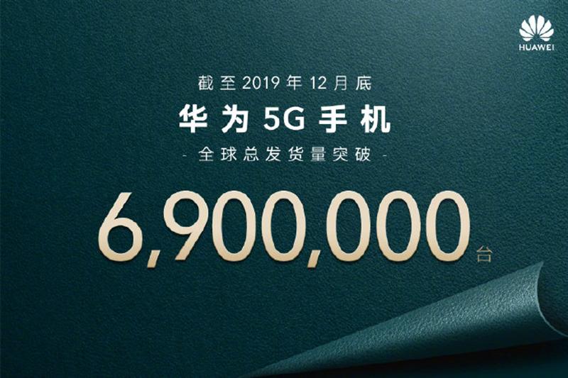 6.9 million 5G smartphones sold