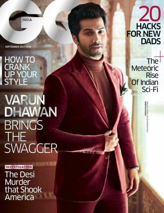 Varun Dhawan On The Cover of GQ Magazine India September 2017