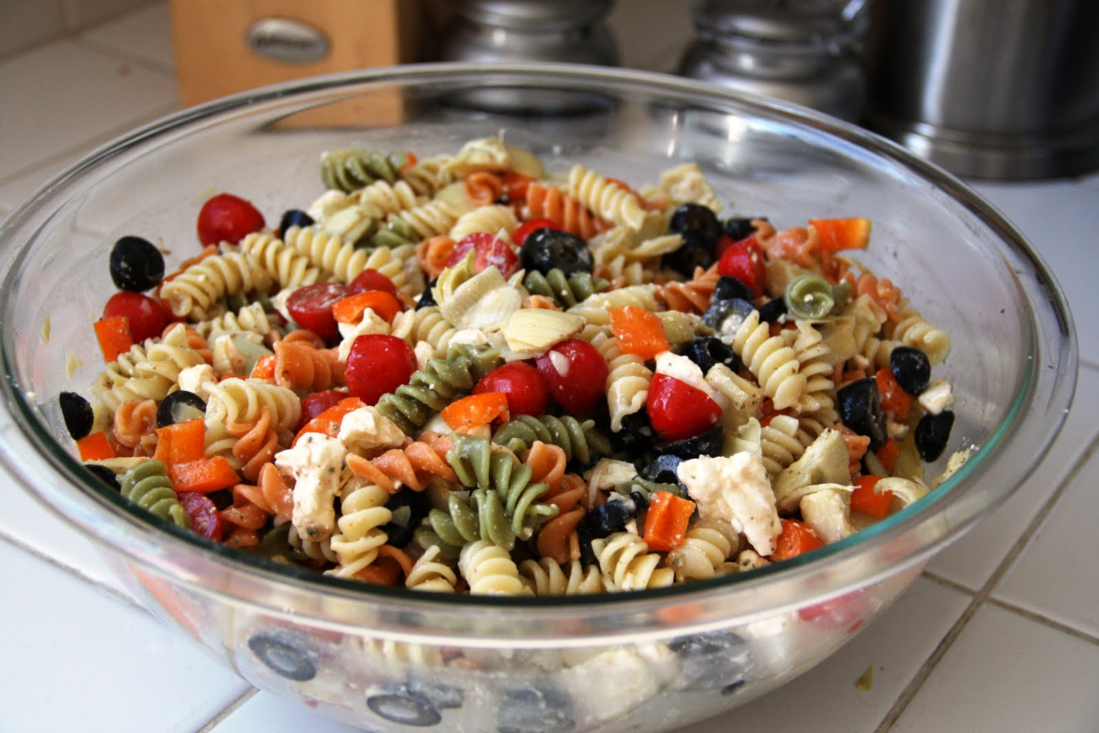 Summer Pasta Salad Gluten Free Option Vegan Vegetarian Gastronomy