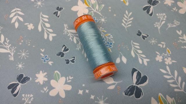 Aurifil thread and Art Gallery fabric