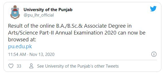 PU Announce BA BSc Annual Result Part 2 2020