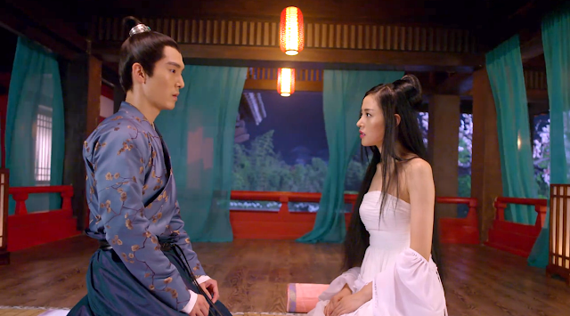 Zhang Tian Ai and Sheng Yi Lun in ep7 of Go Princess Go