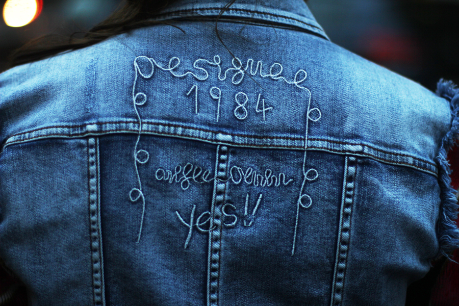 desigual bestickte jacke exotic jeans