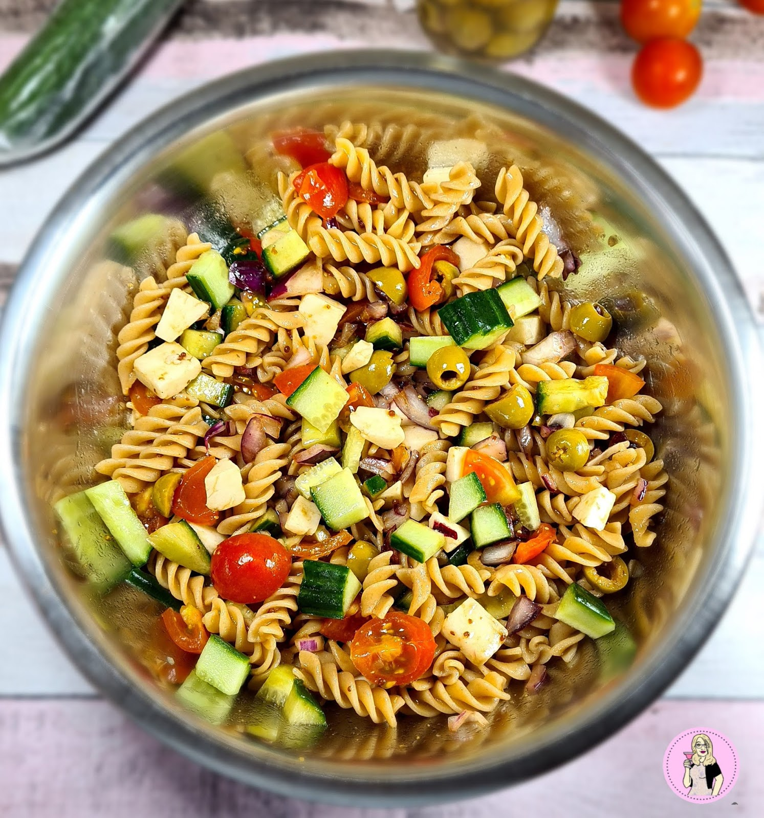 Greek Pasta Salad Recipe | Slimming Friendly