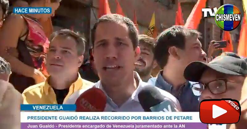 Juan Guaidó visitó Petare para que la gente lo acompañe a cambiar a Venezuela