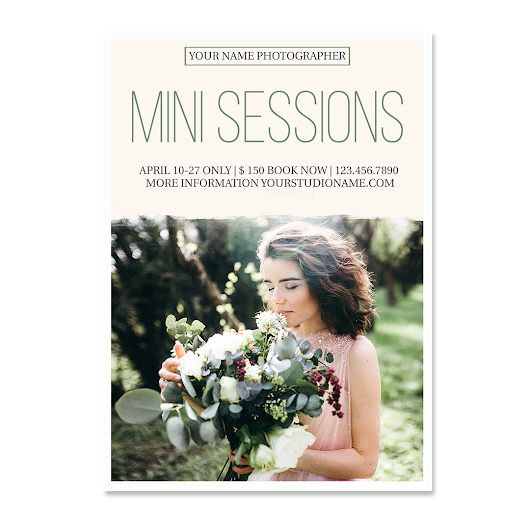 Mini Session Template - Photography Marketing Templates - Marketing Board - Photoshop Templates