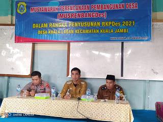 Desa Kuala Lagan Gelar Musrenbangdes