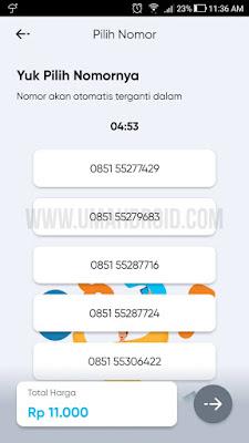 Memilih Nomor By.U Lewat Aplikasi Android