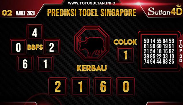 PREDIKSI TOGEL SINGAPORE SULTAN4D 02 MARET 2020
