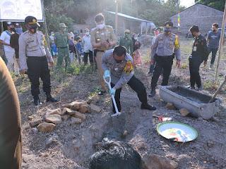 Bersama Forkopimda, Kapolres Gowa Peletakan Batu Pertama Pembangunan Kantor Polsubsektor
