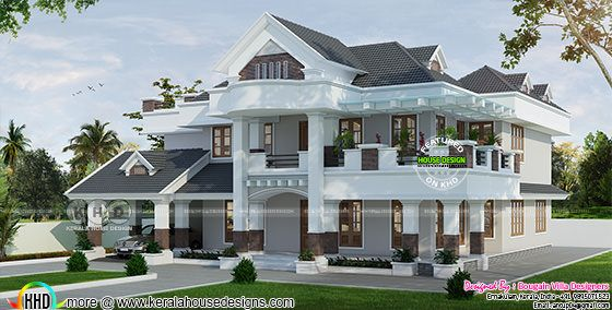 Spacious villa 3d rendering
