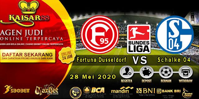Prediksi Bola Terpercaya Liga Bundesliga Fortuna Dusseldorf vs Schalke 04 28 Mei 2020
