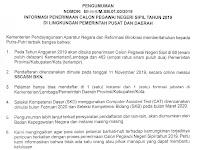 Pendaftaran CPNS Dibuka 11 November 2019 , Ini lah Formasinya dipusat dan disetiap daerah