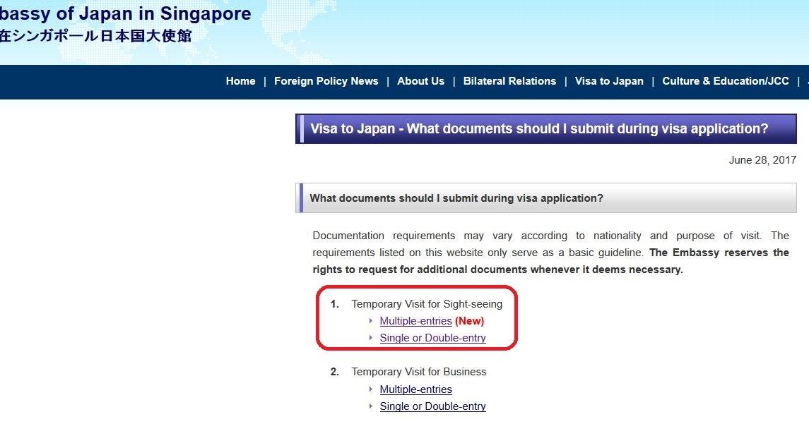 Japan Visa Application For Filipinos In Singapore
