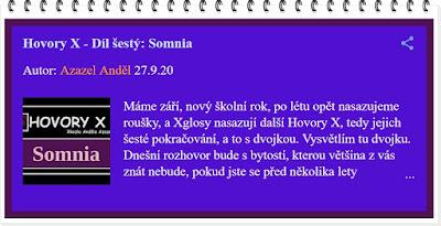 Hovory X - Somnia