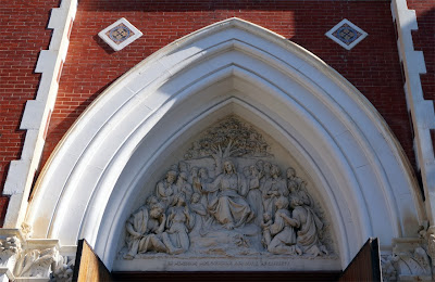 Terra cotta tympanum above main entrance