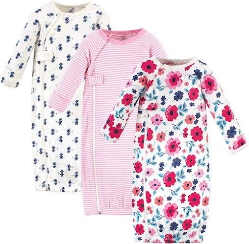 Flower Organic Cotton Preemie Baby Girl Clothes