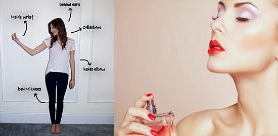 11 truques simples que fazem seu perfume durar mais - Locais do corpo
