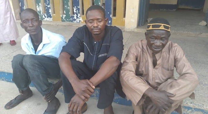 Police Parades 65 Year Old Man, 2 Others For Raping 11 Year Old Girl in Taraba