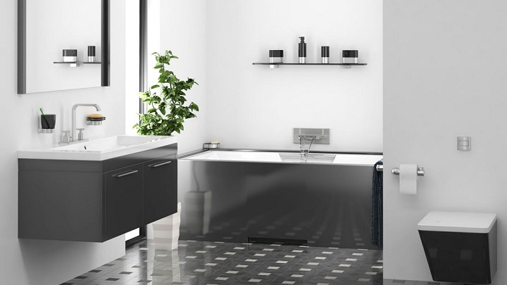 black white and silver bathroom ideas modernas casas de banho a preto e branco decora 231 227 o e ideias 25160
