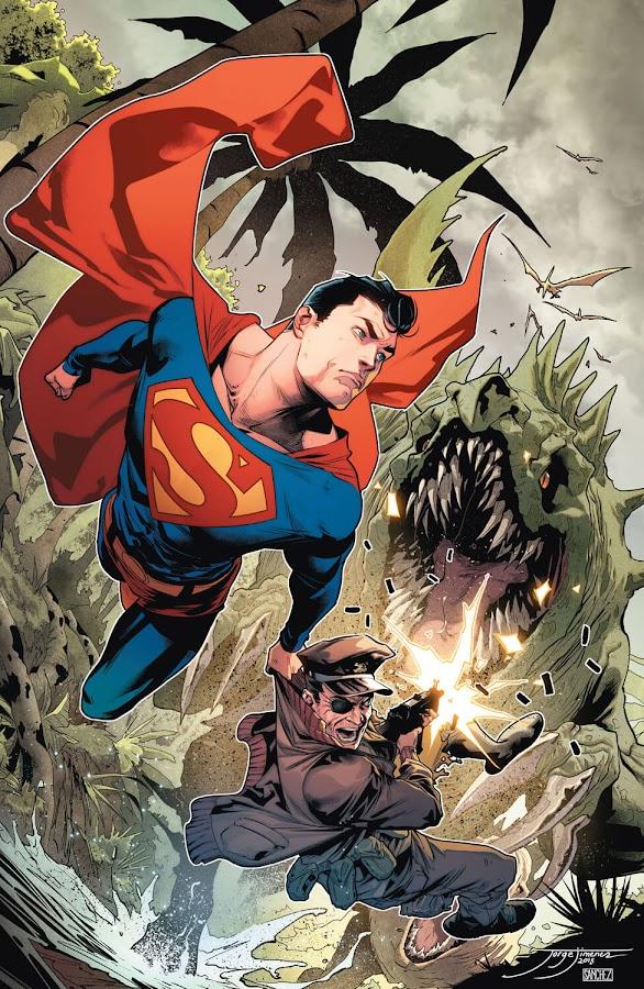 superman dc rebirth jorge jiménez dinosaur island dc comics