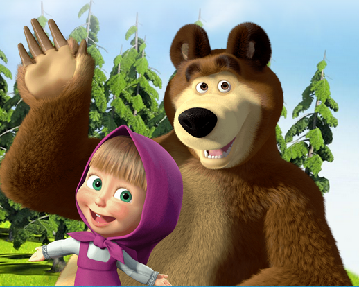 Mewarnai Gambar Masha And The Bear