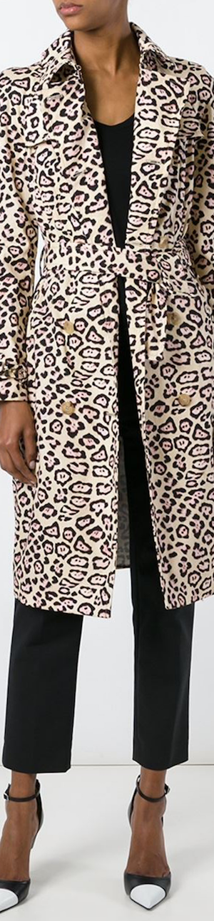 Givenchy Leopard Print Trench Coat
