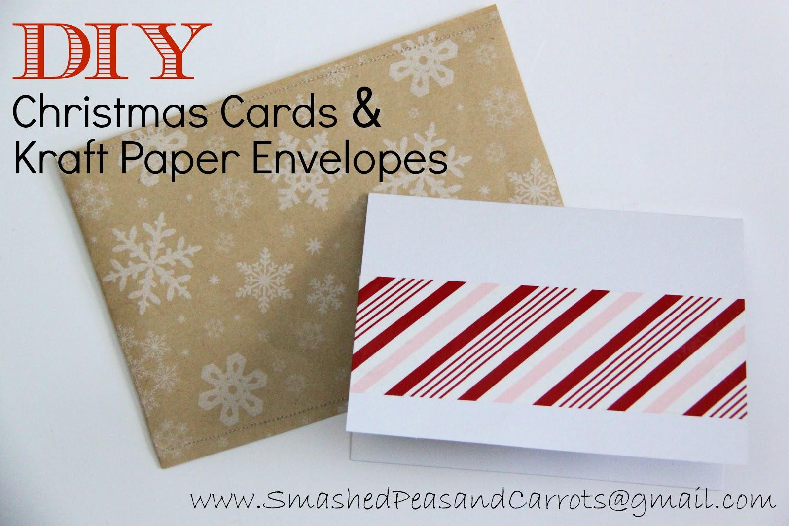 DIY Christmas Cards And Kraft Paper Envelopes TUTORIAL