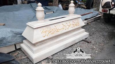 Jual Kijing Kuburan Marmer | Model Makam Bokoran Muslim