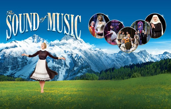 Maria from The Sound of Music dancing on the hills.