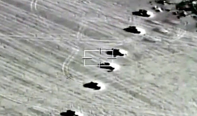 Egyptian air force destroys 10 cars loaded with weapons on the western border
