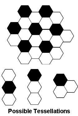 Welcome all!: Math Qn on Black and White hexagonal tiles
