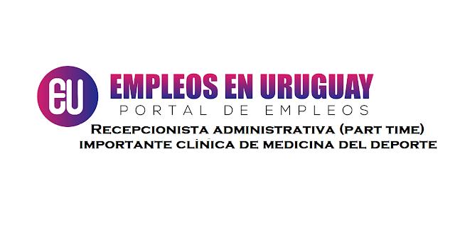 Recepcionista administrativa (part time) para importante clínica de medicina del deporte