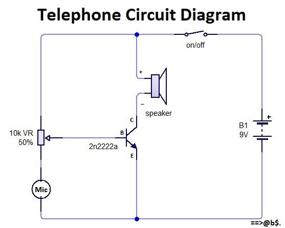 how to make telephone circuit diagram