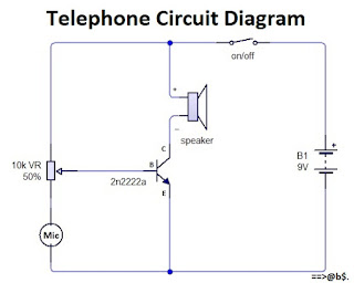How to make telephone circuit diagram