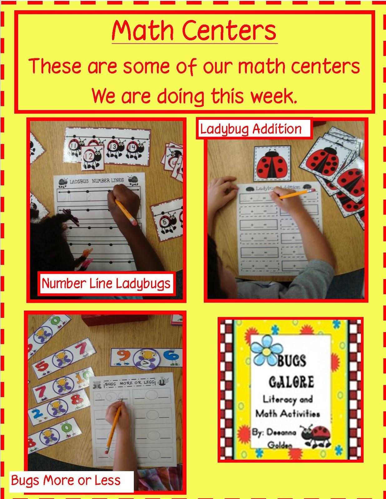Golden Gang Kindergarten Math Centers