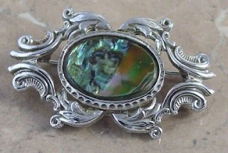 ornate abalone brooch by Exquisite