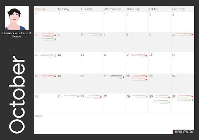 Deaf Calendar October 2020