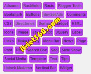 Label Blogspot