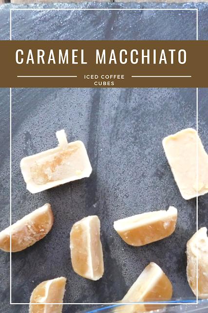Caramel Macchiato Iced Coffee Cubes