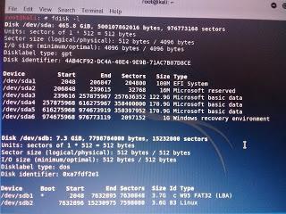 Setelah masuk Desktop Kali Linux Live, kemudian buka terminal dan kita cek terlebih dahulu letak Partisi persistence tadi
